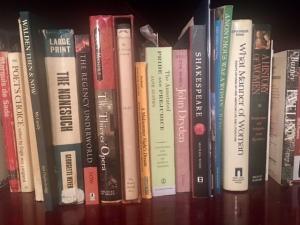 bookshelf with classics