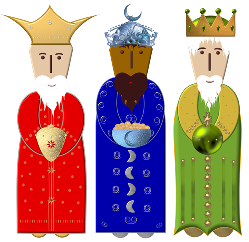 three wise men free clipart