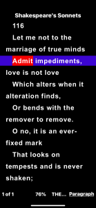 An image of large text on a dark background shows high contrast