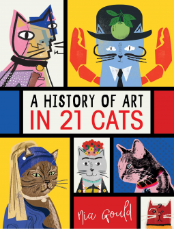 cover art shows multiple brightly painted cats