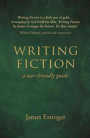 The cover of writing fiction is green with gold letters