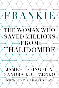 The cover of the book frankie shows a blue pattern on a white background