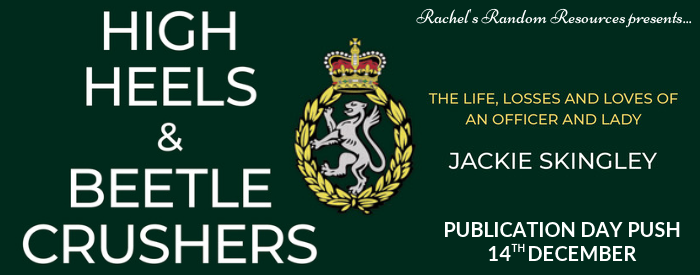The banner for this blog tour is green and shows the book title along with a crest of a lion surrounded by laurel wearing a crown