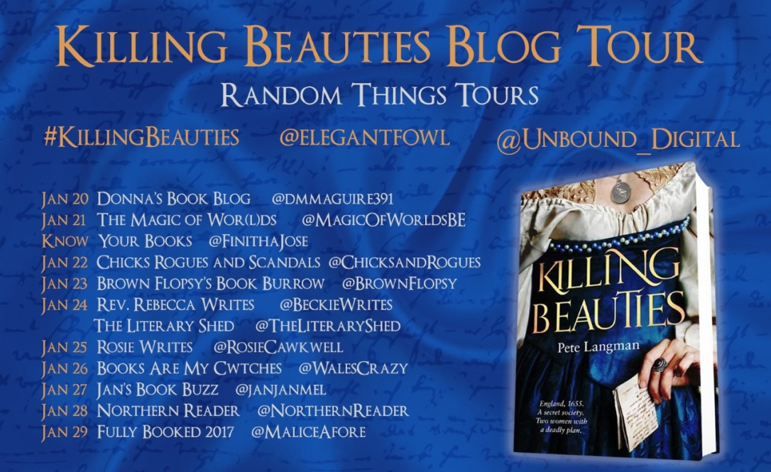 the banner for the blog tour lists the websites that are featuring this book