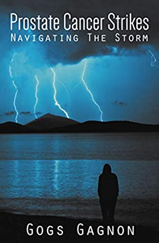 The cover of the book shows a lightening storm
