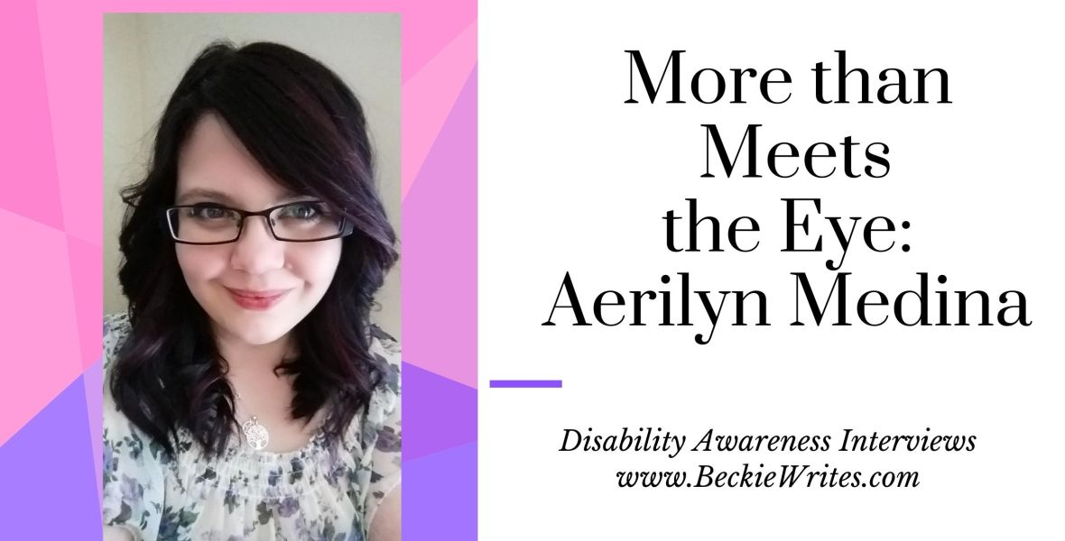 The banner shows a photo of Aerilyn. She wears glasses and smiles