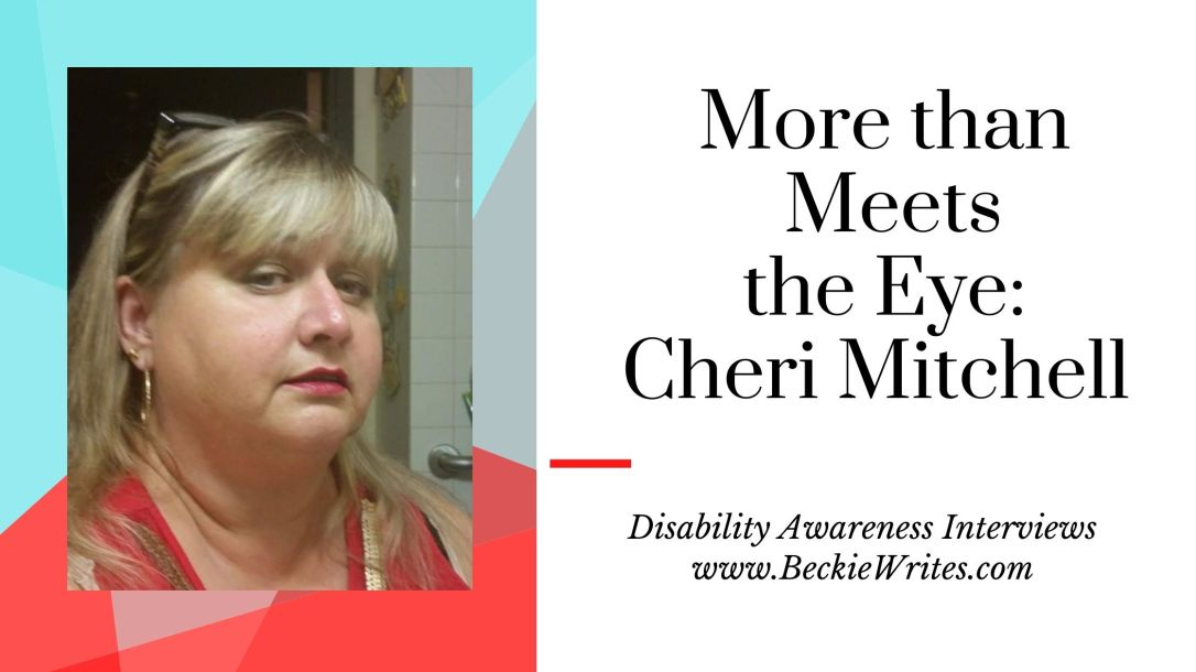Cheri Mitchell has light colored hair and wears a red shirt