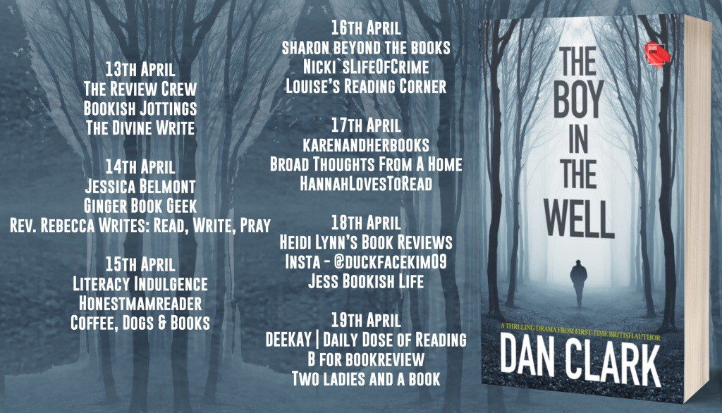 A banner shows a list of the other blogs participating in this blog tour