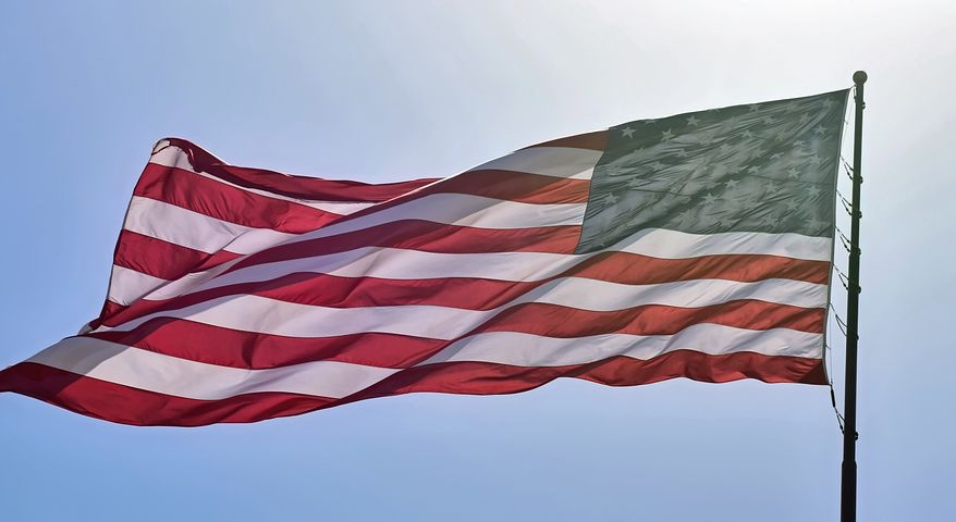 Image shows American flag